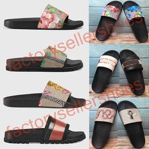 2020 Gucci Sandales  top sandali Sandales broccato floreale Moda Uomo pantofole rosse bianche Gear Bottoms Infradito Womens diapositive appartamenti casuali pantofole EUR 46