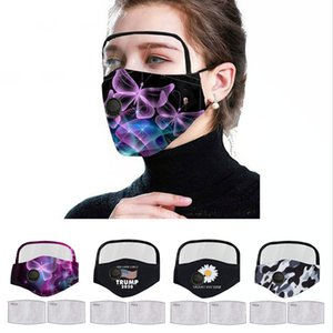 Donald Trump Face Mask Eyes Shield With 2 Filter Mouth Cover Unisex Anti Dust Washable Breathable Designer Masks DDA165