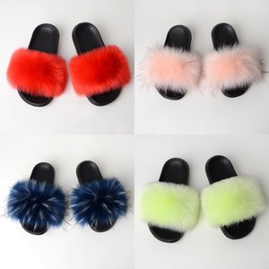 With Wo Slippers Heels Shoe Sandals Real Leather High Quality Slippers Fashion Scuffs Slippers Casual Shoes Free PT812#967