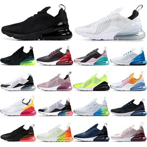 Nike Air Max 270  Recién llegados Zapatos para hombre para mujer Verde Negro Blanco Cojín de aire Zapatillas de deporte para hombre triple Zapatillas de deporte para atletismo Zapatillas para correr