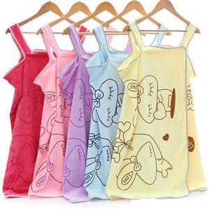 Женщины Душ Халаты носимого Волшебное Полотенце Lady Girls SPA Душ Полотенце Обертывание пляж платье Wearable Полотенце IIA245