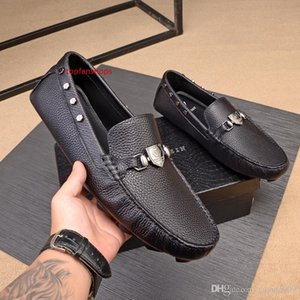 A1 9 style Dress Shoes Business Formal Shoes Wedge Heel Loafers Low Top Slip On Casual Leather Lazy Fake Shoes for Men Black Red Brown