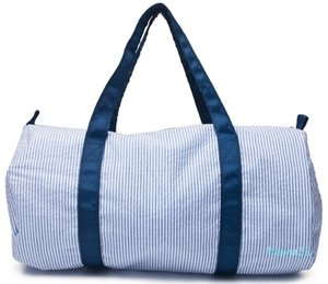 Travel Bag Designer-Inch Personalizza seersucker Duffle Bag all'ingrosso Blanks bambini Barrel Bag Preppy per bambini