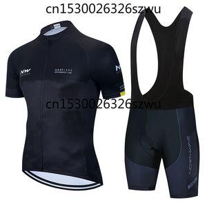 2020 NW Short Sleeve Cycling Jersey Summer Bike Penetrating Uniform Cycling Jersey Men