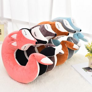 30*30*8CM Cute Fox Animal Cotton Plush U Shape Neck Pillow Travel Car Home Pillow Nap Pillow For Health Care MX200716