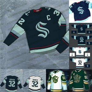 Seattle Kraken 2021 Hockey Jersey 32th New Team Custom Home Road Jersey 100% Stitchedany Nunber Cualquier nombre Hombres Mujeres JUVÍES Hocker Jersey