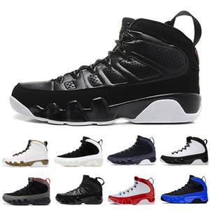 أحذية حار بيع 9 9S كرة السلة للرجال الأسود أبيض المتسابق الأزرق OG الفضاء المربى الرجال الخصم أحذية رياضية في الهواء الطلق المدربين الأحذية حجم 7-13