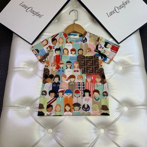 2020 Meninos Meninas do verão camisetas dos desenhos animados Imprimir T-shirt de manga curta camiseta de algodão Meninas Tops Para Roupa Crianças