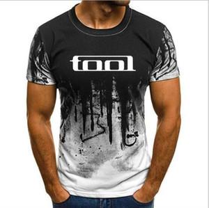 Haute qualité S-4XL Mans unique coton à manches courtes O Neck T-shirt Vêtements pour hommes Outil de bande Heavy Metal T-shirt des hommes T-shirt Imprimer