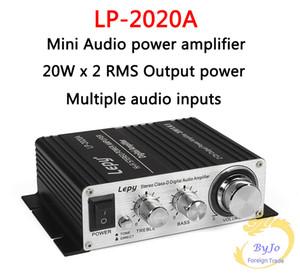 Lepy LP-2020A HiFi Dijital Mini Ses Stereo Amplifikatörler 20Wx2 ile Kızılötesi Uzaktan Kumanda Ev Araba Amplifikatör + Güç Adaptörü
