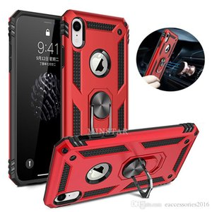 Hybrid Magnetic Ring Kickstand Case For iPhone 11 Pro Max 2019 X Xs XR 8 Plus Note 10 Pro S10 5G S10e J3 J7 J4 J6