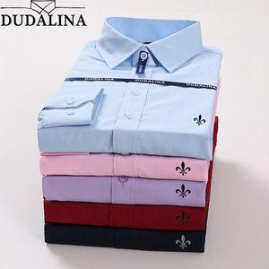 Dudalina Plus Size Male Männer Camisa Masculina Langarm Blusa De Frio Männlich Social Masculina Slim Fit Reserve q9gt #