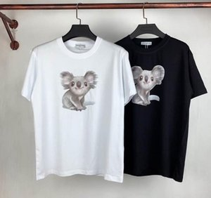 2020 European station summer European and American style bear T-shirt men and women lovers high-quality short-sleeved T-shirt Tee M-2XL