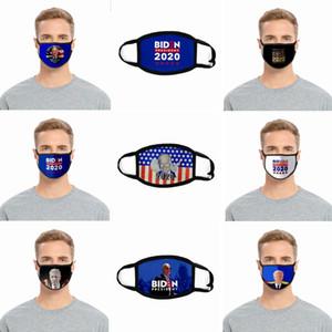 2020 Elezione Biden mascherina mascherine riutilizzabile lavabile Viso Ice Seta Joe Biden antipolvere maschere di protezione esterna 20 stile HHA1466
