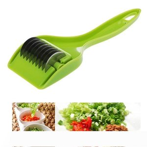 Stainless Kitchen Accessories Gadgets Blade Green Onion Chopper Slicer Garlic Coriander Cutter Chopper Vegatable Cooking Tools