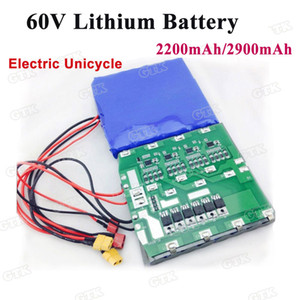 Customized 60V 2200mah 132wh 2900mah 174Wh 16S1P li-ion battery pack built-in BMS for Electric wheelbarrow Unicycles skateboard