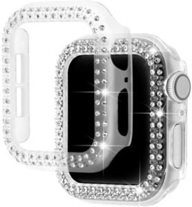 Caja protectora de diamante de parachoques para Apple Seguir Serie cubierta 5 4 3 2 1 38MM 42MM Carcasas Para IWATCH 5 4 40 mm de correa de banda de reloj de 44 mm