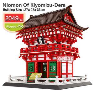 2049pcs bâtiment architecture ville bloc Le Niomon Kiyomizu-dera Temple de briques de construction enfants Kyoto kit bricolage enfants jouets cadeau 01