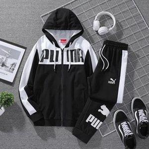 2020 pleine Survêtement zip Printemps des hommes d'automne womens hommes costume de sport sweat-shirt et pantalon pour les hommes ensemble Sweatsuit taille asiatique: L-4XL