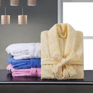 100% algodão de Banho Hotel Cotton Hotel Yukata Feminino alongada Grosso Toalha Nightgown Beauty Salon Robes Nightwear
