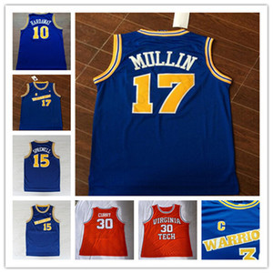 Faculdade # 17 Chris Mullin # 15 Latrell Sprewell 10 Tim Hardaway Retro Basketball Jersey Universidade usa costurado Jersey S-2XL