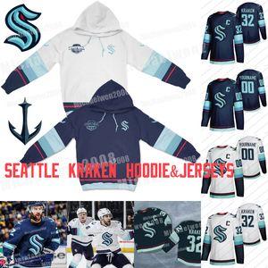 Seattle Kraken Jersey und Hoodie Kapuzenpulli Hockey Jerseys 2021 Jahreszeit Individuelle Männer Frauen Jugend 100% Stickerei genähtes Trikots