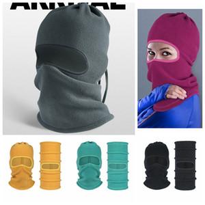 Protection Masque froid Preuve Automne Hiver Polaire Multifonctionnel chaud visage coupe-vent Chapeau bavoir équitation d'extérieur Ski Coiffures LJJP271