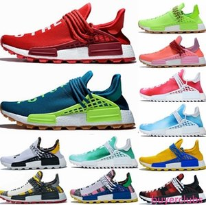 New Pharrell Williams NMD Human Race Designer Sneakers BBC Solar Pack Yellow Blue Nerd Heart Mind Know Soul Mens Womens nmds Running Shoes
