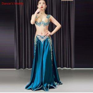 Novas 2pcs / set Belly Dance Costume Womens Belly Dancing Costume Define tribal vestido Bollywood Bellydance Vestido