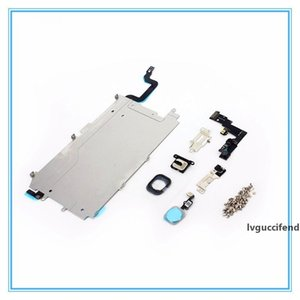 Front Camera Home Button Flex Ear Pieces Screw Sets Metal Plate Bezel For iPhone 5 5s 5c 6 6S 7 7 Plus LCD Display Touch Screen Digitizer