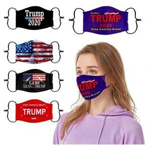 Ücretsiz Kargo 10 stilleri Trump Yüz 2020 Amerikan Seçim toz geçirmez Kamuflaj Koruyucu maskeler ABD Bayrağı Bisiklet Maske Maske