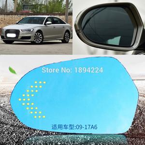 아우디 A6 2009년부터 2017년까지 자동차 백미러를 들어 광각 블루 미러 화살표 LED는 신호 조명 켜기
