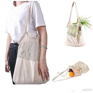 Reusable String Shopping bag Fruit Vegetables Eco Grocery Bag Portable Storage Bag Shopper Tote Mesh Net Woven Cotton Storage Bags HH9-2409