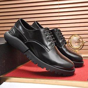 2020 New Fashion Derby Shoes Drop Ship Lightweight Business Dress Shoes Men &#039 ;S Split Leather Vintage Men Formal Party Office Wedding S
