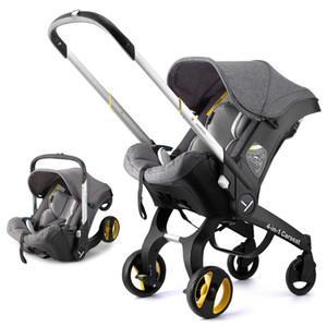 4 In1 малолитражного автомобиля коляска безопасности Сиденье Новорожденного Bassinet Cradle Тип безопасности Детское сиденье Carriage Корзина Система путешествий 3 В