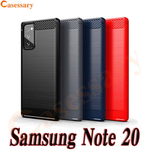 Fibra de Carbono Brushed Texture a caixa do telefone para Samsung Nota 20 Ultra A01 A10E A10S A11 A21 A31 A41 A51 A71 LG Stylo6 K51