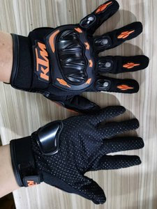 KTM Full Finger Outdoor Sports High Quality Cycling PU Gloves Bicycle Motorcycle Riding Camping Fishing Golf Racing Cross Country G01