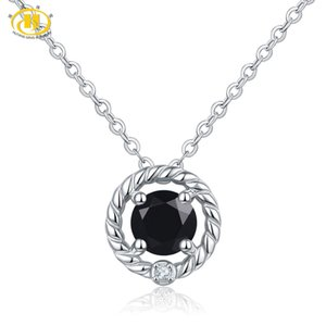 Hutang Spinel Pendant Natural Gemstone Solid 925 Sterling Silver Crystal Necklace Fine Fashion Stone Jewelry For Women Gift New
