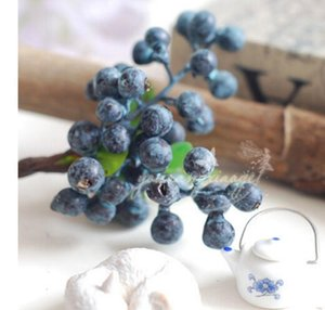 10PCS PACK Decorative Fruit blue Berry Artificial Flower Silk Flowers Fruits For Wedding Party Home Decoration Artificial Plants