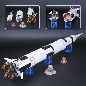 DHL 37003 16014 J79002 Apollo V saturn Lancement ombilicale Tour navette spatiale Expedition Jouets Modèle blocs de construction 21309 10231 66