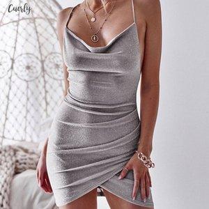 New Women Sequined Cap Sleeve Bodycon Sparkly Backless Bandage Sleeveless Evening Party Club Mini Dress Sundress
