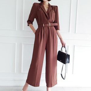 CINESSD Fleabag Jumpsuit For Women One Piece Playsuit Linen Half Sleeve V neck Wide Legged Pants Suit macacao feminino Plus Size