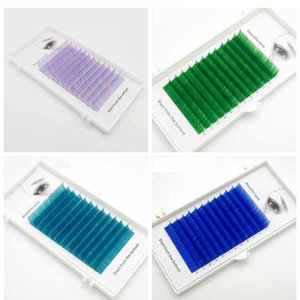 C D 0.07 0.1mm 8 15mm false eyelashes Multicolor color eyelashes individual colored faux volume eyelash extension