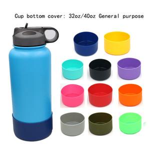 Bottiglia di acqua antiscivolo fondo Mats silicone protettiva della copertura del manicotto della protezione per il vuoto isolato corsa dell'acciaio inossidabile tazza Tumbler A1906T