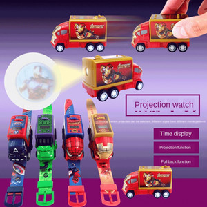 Creative fashion plastic projection Projection Huili auto deformation watch cartoon toy watch children's gift