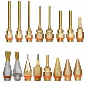 1.5x70mm 1.8x55mm الساخنه نذوب الصمغ بندقية النحاس طويل فوهة كبيرة وصغيرة القطر فوهة 1MM مع مفتاح، 1PCS / لوط R2At #