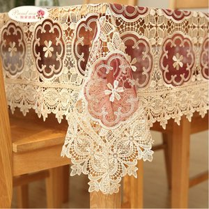 Proud Rose Korean Table Cloth Tablecloth Lace Table Cloth Transparent Table Cover Wedding decoration Embroider Tablecloths T200707