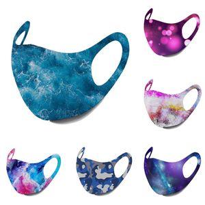 Pamuk Yüz Men Maske yıldızlı gökyüzü maskeleri Sıcak Galaxy Desen Sevimli Ağız Maskeleri Kulak Döngü Ayarlanabilir Yüz Kapak tasarımcısı maskesi cubrebocas