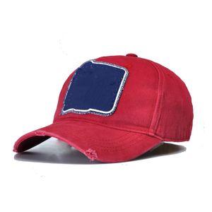 Designer Red DSQICOND2 Basketball Cap Letters Cotton Baseball Caps High Quality Men Women Customer Design Baseball Trucker Snapback Dad D2