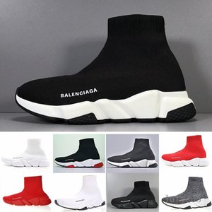 Sneakers Speed Trainer Black Red Gypsophila Triple Black Fashion Flat Sock Boots Casual Shoes Speed Trainer Runner With Dust Bag MIE3V